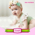 Latest Designs Soft Baby Cotton Onesie 0-24M Baby Lace Sleeve Rompers