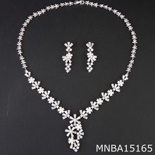 New fashion arabic sparkling zircon bridal jewelry set MNBA15165