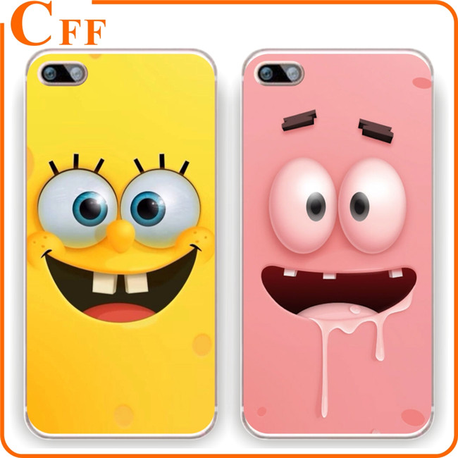 Best Friends Phone Case Cover Funny Cute Cartoon Spongebob Ultra thin Soft Phone Case for Samsung Galaxy A9 pro C5 Case Shell