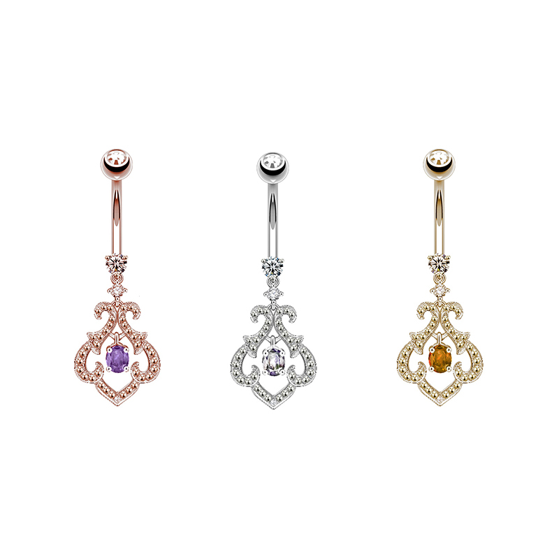 2018 new design piercing body jewelry of belly rings dangle
