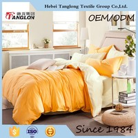 apricot warm color bed sheets cotton bed sheets flat cover bed spread China supplier