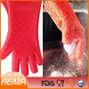 silicone barbeque gloves and grill gloves withstand heat and long oven glove high heat