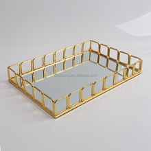 nice design gold finishing Indian wedding tray decoration