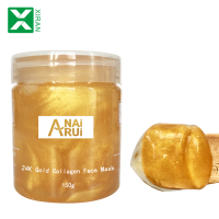 Anti-Wrinkle Antiaging Crystal Collagen Gel Facial Face Mask OEM Skin Care Moisturizing 24K Gold Facial Mask