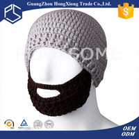 Promotional custom top knitted beard hats for sale