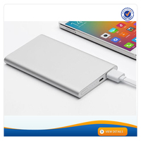 AWC925 10MM Slim Aluminium Alloy Xiaomi Branded Power Bank 5000mAh Phone Charger Portable 2.1A Fast Charger