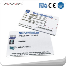 2017 Top Sale Plastic Printer Id Business Card With Signature Panel