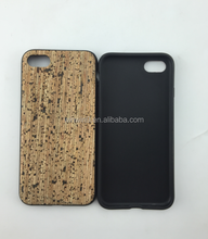 Mix Cork Wood And Soft TPU Phone Back Cover,Hot Sale Case,Made In China