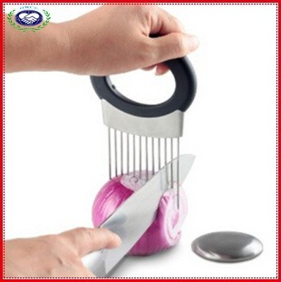 Stainless Steel Onion Holder with Odor Remover