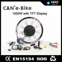 Hot 48V 1000W electric bike conversion kit for rear wheel with TFT display