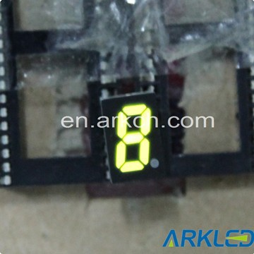 "mini single 0.32"" home appliance yellow color 7 segment LED digital display"