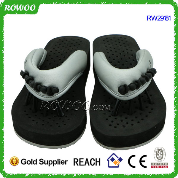 new fancy style slipper lady comfortable pedicure spa sandals