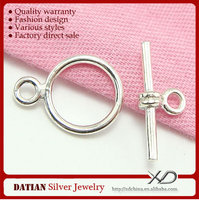 XD P077 Factory Direct Sale 925 Sterling Silver Leather Bracelet Toggle Clasp