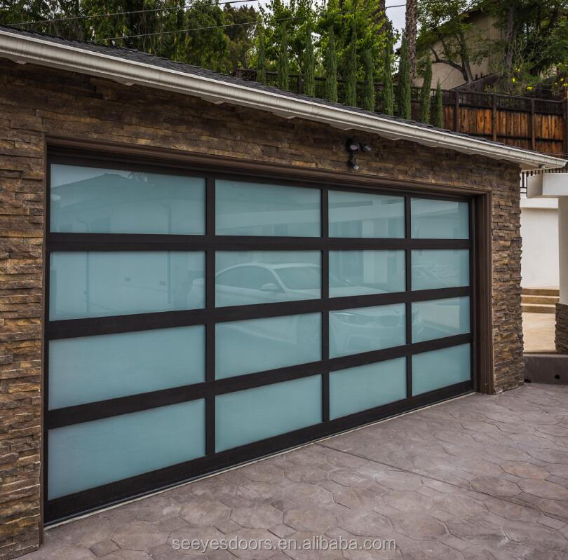 Glass Garage Door Automatic Lift 8x7 9x8 Feed Garage Door Buy