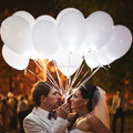 White LED Lamp Lights Balloons For Wedding Party Decor Floral Decoration Light