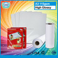 Full color cast coated high glossy photo paper wholesale cheap high quality fuji inkjet glossy photo paper