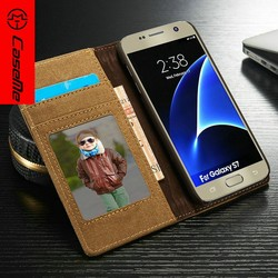 Case Cover,CaseMe Wholesale Leather Case for Samsung Galaxy S7 edge, for Samsung S7 edge Phone Cover