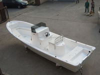 Liya outboards 7.6m frp boat with central console fishing yacht builders china