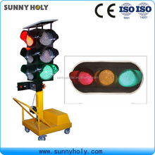 Roadway Safety Four Sides Solar mobile Traffic Signals, Arrow Tubes Portable Temporary Solar LED