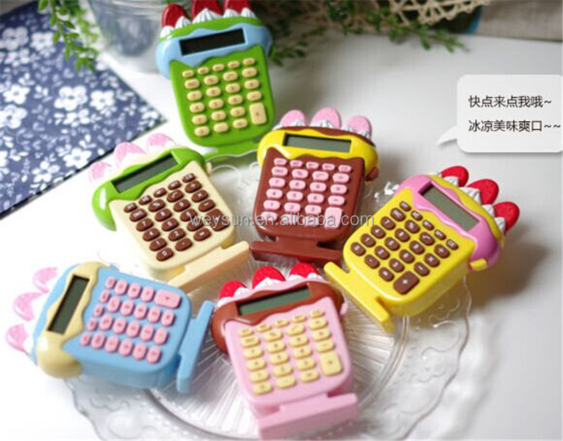 stationery cute cartoon super adorable mini portable student calculator on sale