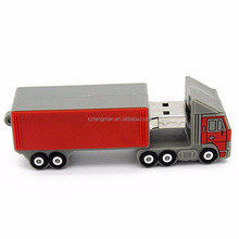 Factory distribute directly lorry Usb Flash Drive Pendrive memory stick freight car gift U disk Truck model Pen Drive