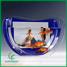 desktop custom clear acrylic aquarium fish tank