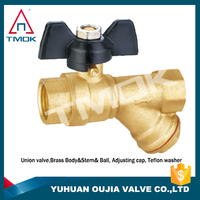TMOK 1pc 3/4'' brass y strainer ball valve BSP thread female connection Cu57 material for plumbing
