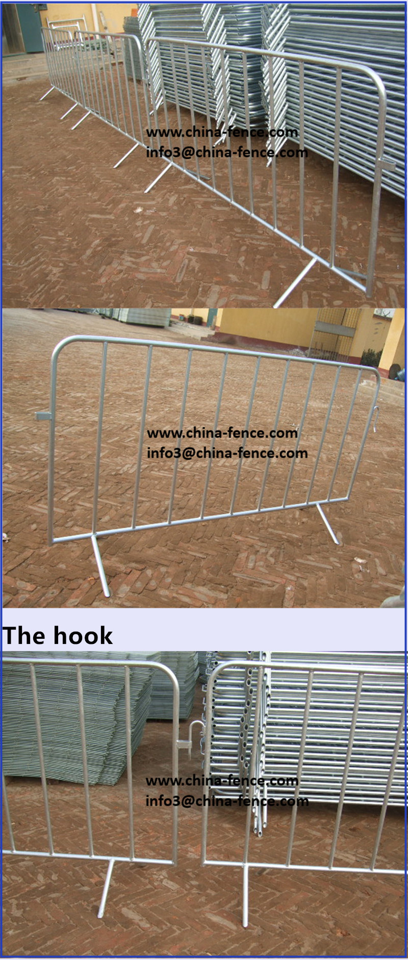 Used steel Crowd Control Barriers for sale China