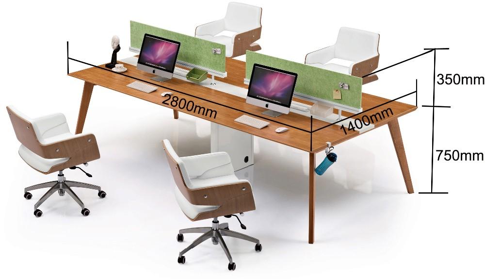 Foshan meubles bureau poste de travail personnel table for Bureau 4 postes de travail