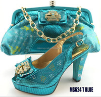MS624 T blue light color high heel 10cm shoes for summer/shoe matching bags