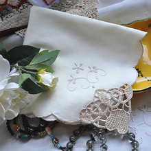 luxury hand embroidery table napkin for wedding