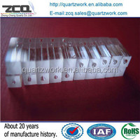 Square to round Quartz Glass adapter tube 1.5*1.5*ID0.13mm