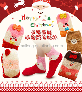 South Korean cartoon half wool socks socks Christmas gifts socks floor sleep PN3229