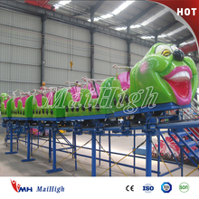 Hot selling cheap custom amusement rides big worm roller coaster for sale