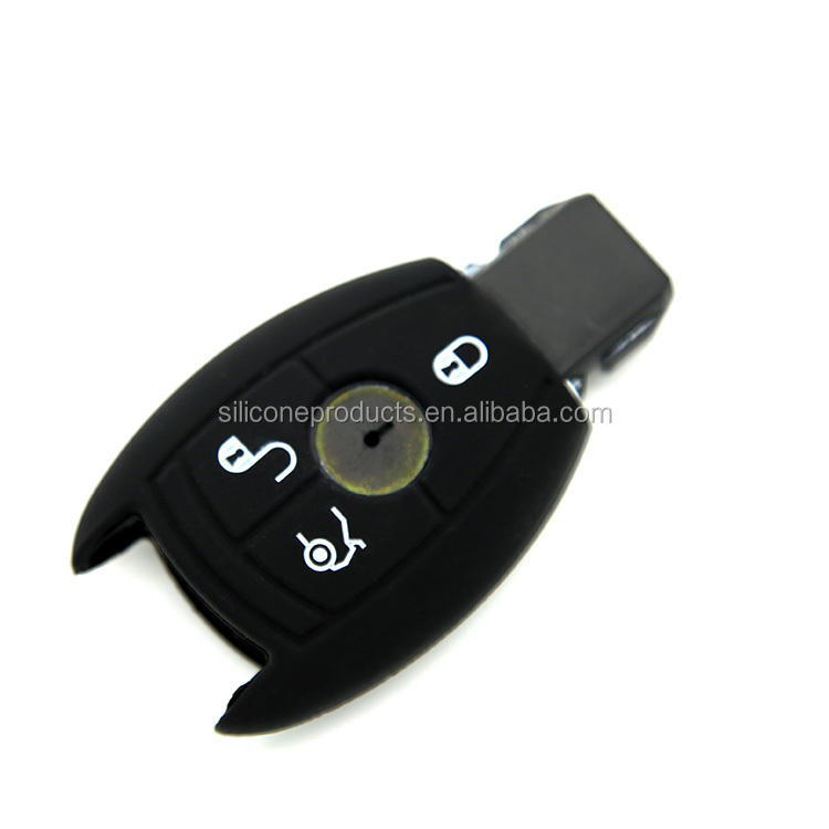 China Supplier Wholesale Cheap Silicone Shell Car Smart Remote Key Cover Case Bag Holder Fit For Benz E/<strong>R</strong>/C/GL/SLK Class