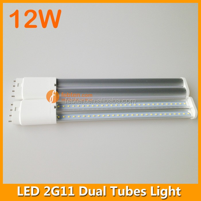 2G11 4pin Base Type 327mm Milky Clear Lens 12w 2G11 Led Tube Light
