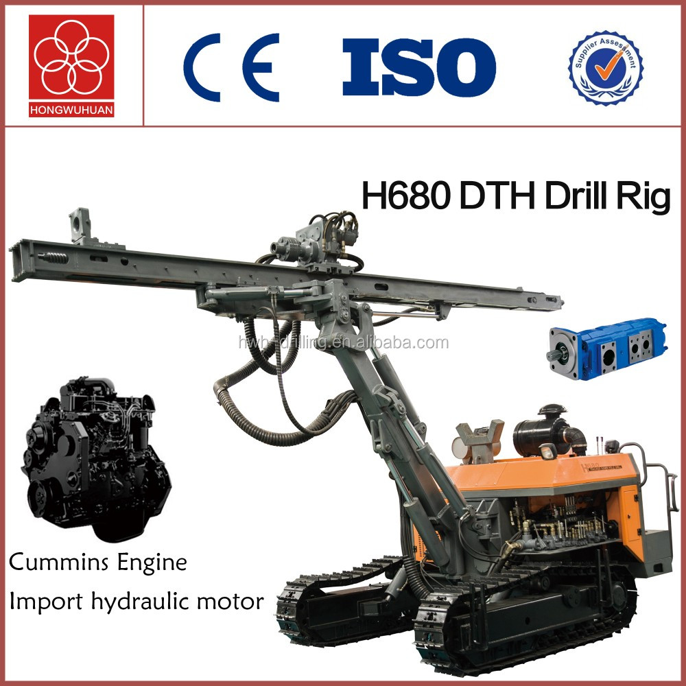 H680 work with air compressor hole drilling machine with dth hammer