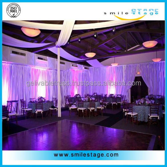 2014 hottest event wedding aluminum backdrop stand pipe drape