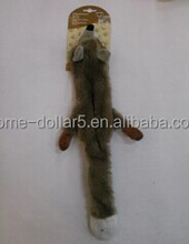 PLUSH FOX PET TOY WITH SOUND