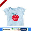 cute style color print short sleeve logo avaliable customer size clothes for baby girl t-shirts