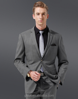 70% wool two buttons Notch Lapel grey stripes latest suit styles for men