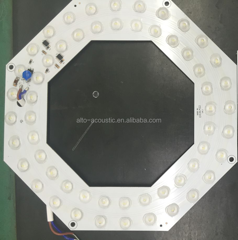 led pcb with lens and equip IC scheme, 120lm/w led retrofit pcb for ceiling light, magnet to adsorb on the lamp plate