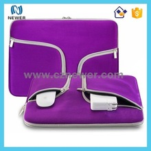 Easy carry fashion design wholesale 14 inch neoprene laptop sleeve with handle
