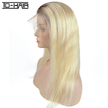Top Quality Silky Straight Brazilian Hair Online Ombre Blonde Hair 1b 613 full lace Human Hair braided wigs for black women