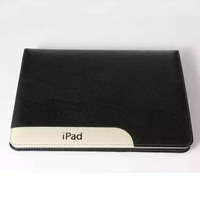 Ultra thin genuine leather with stand-up flip case cover for Apple ipad air/air2