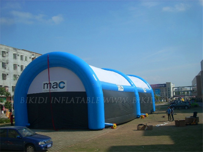 Custom inflatable tunnel tent, inflatable paintball tent, inflatable buildings for sale K5034
