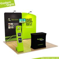 Modern tension fabric full color printing display fashion standard used trade show booths