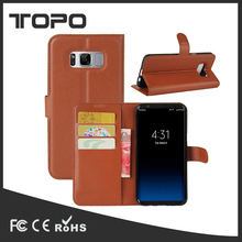 Money slot soft TPU cell Phone Case Flip cover stand Mobile PU Leather Phone Case For Samsung galaxy S8 plus with car slot