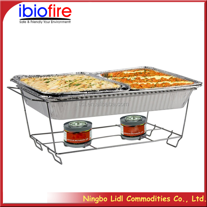 foil container gel chafing fuel rack