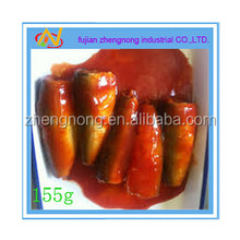 chinese traditional food 155 grams canned sardine in tomato sauce(ZNST0007)